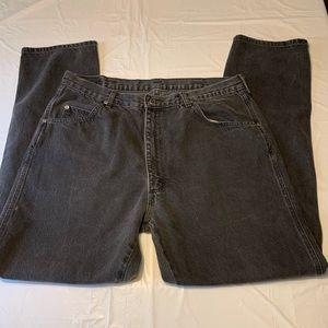 Wrangler Black Destroyed Distressed Jeans 36x31